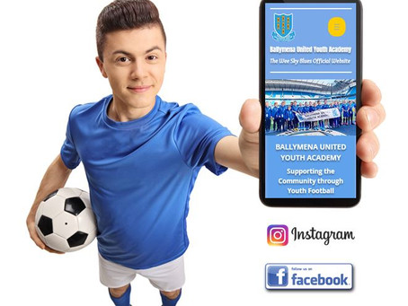 Ballymena United Youth Academy launch new website.