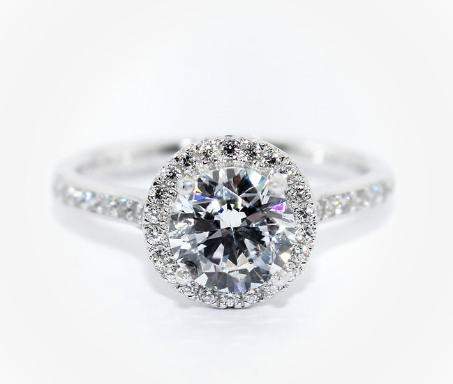 18 Carat White Gold Engagement Ring