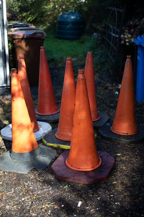 391a. Seven Traffic Cones (All Different)