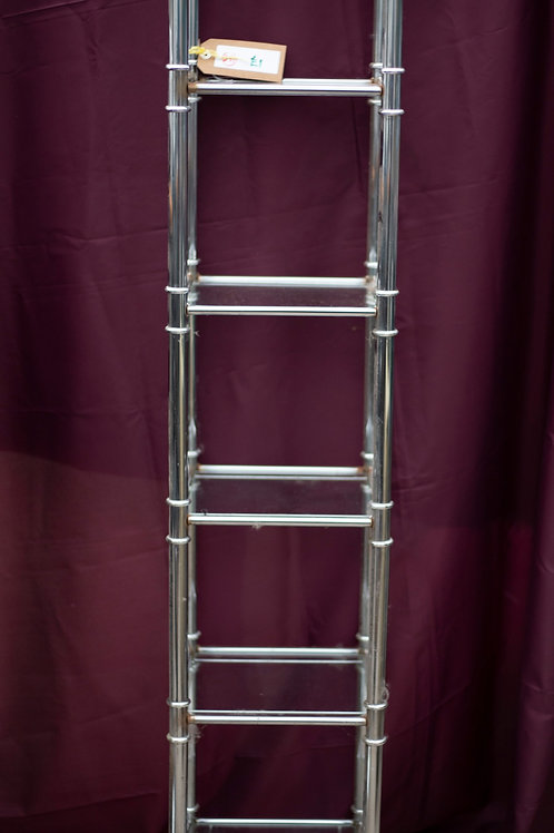 251. Chrome and Glass Shelving Unit