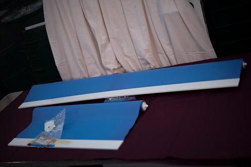 104. A Set of 2x Blue Roller Blinds