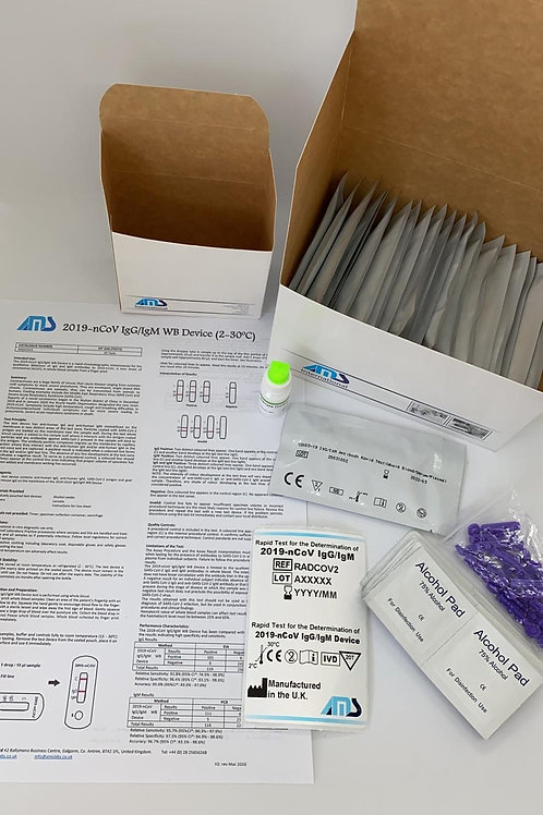 COVID-19 Rapid Test Kit & Lancet (20x Tests)