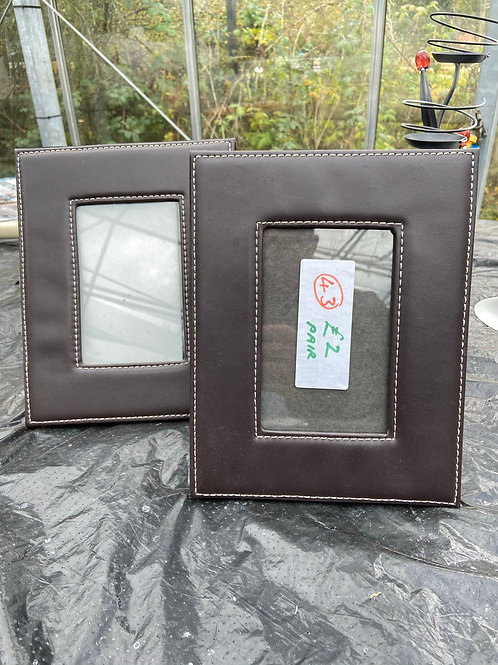 43. Pair of Picture Frames (Leather Effect)