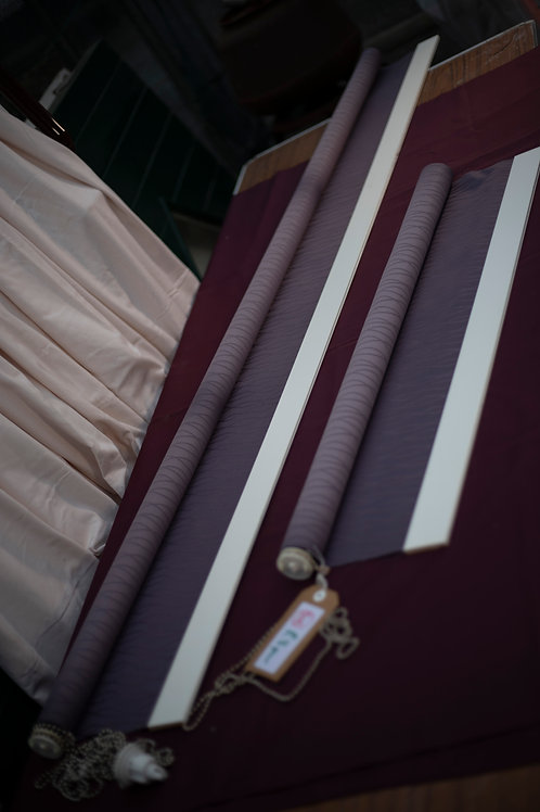 105. A Set of 2 Plum Coloured Roller Blinds