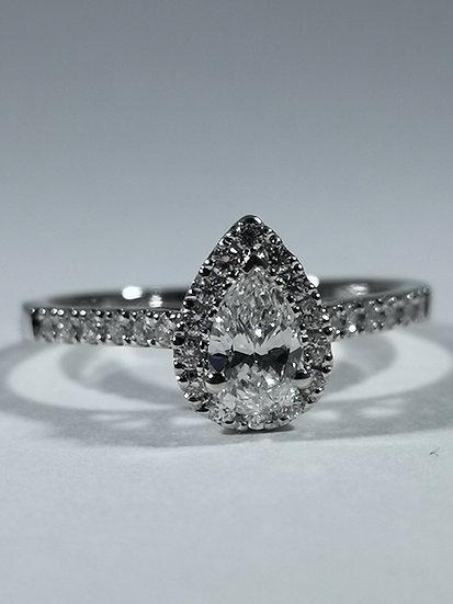 18 Carat White Gold Diamond Engagement Ring