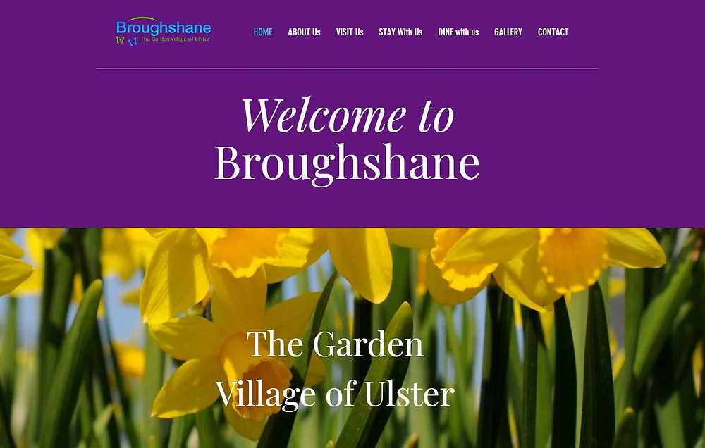 Broughshane's new mobile-friendly, responsive website was launched this Spring to help their community association communicate with local residents and visitors