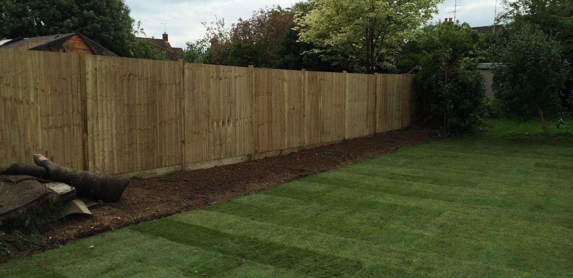 fencing and trufing carried out by bennetts tree care