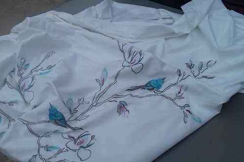 214. Hand Embroidered King Size Duvet Cover