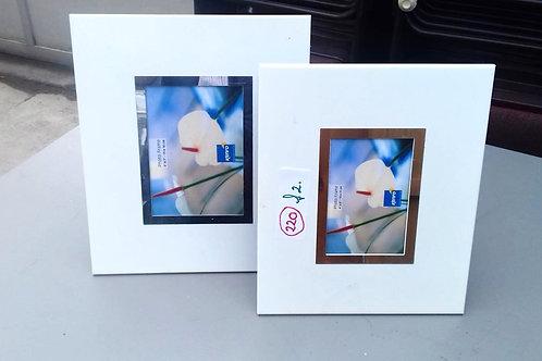 220. A Pair of Contemporary White Photograph Frames
