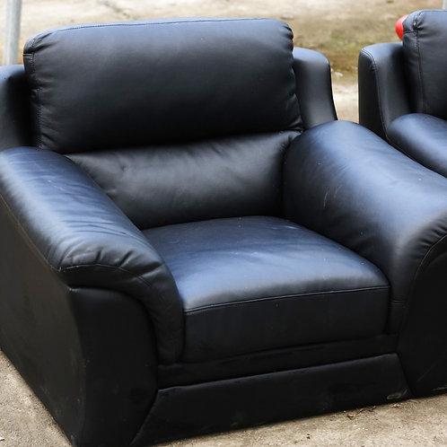 275. Leatherette Chair -  Black