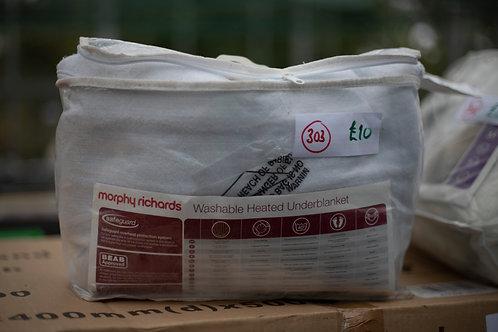 303. Morphy Richards Washable Single Heated Electric Blanket