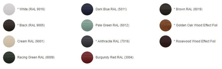 Compare Clare Garage Door colours
