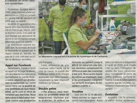 Le Laboratoire Legrand dans les journaux régionaux
