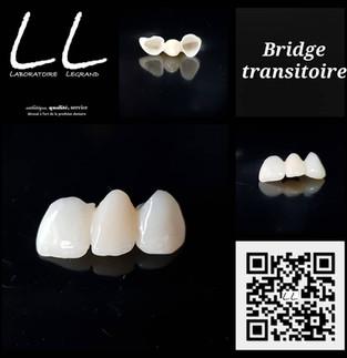 Bridge provisoire réalisé numériquement et usiné en PMMA