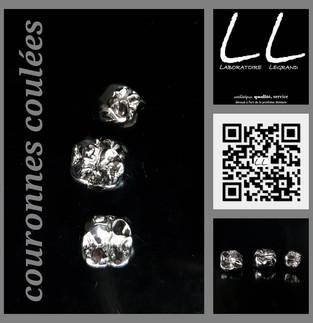 couronnes coulées, couronnes en métal chrome-cobalt
