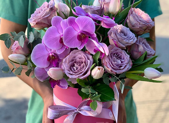 Pink box flower