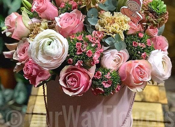 Box rose flowers
