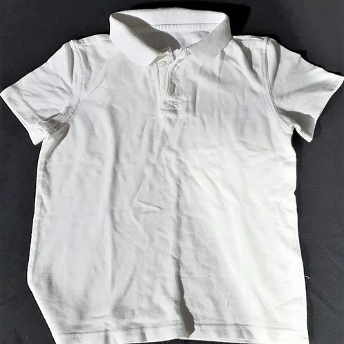 Plain White Polo - 7-8 yrs