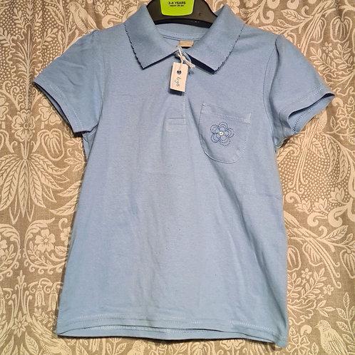 Flower Pocket Polo Shirt - 6 yrs