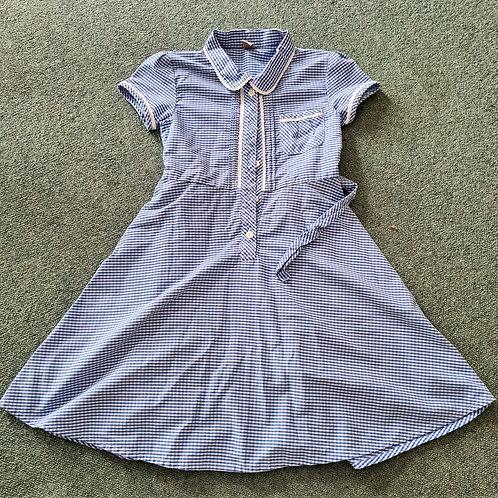 Gingham Button Dress - 8 yrs
