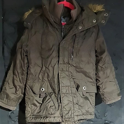 Khaki Boys Winter Coat - 6yrs