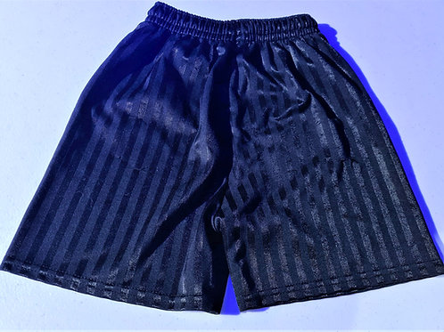 Black Football Shorts - 5-6 yrs