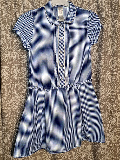 Gingham Button Dress - 8-9 yrs