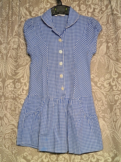 Gingham Button Dress - 2-3 yrs