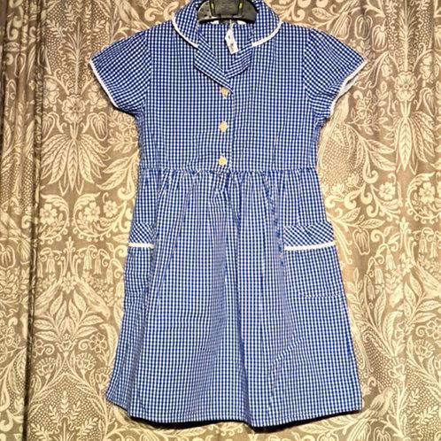 Gingham Button Dress - 4-5 yrs
