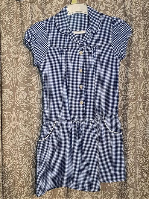 Gingham Button Dress - 7-8yrs