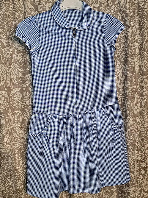 Gingham Dress with Zip - 7 yrs