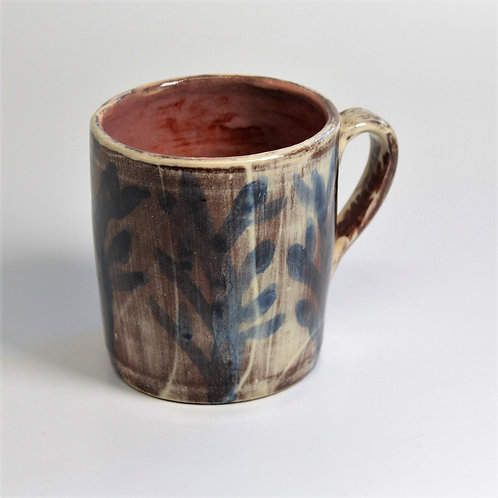 Tall Seaweed Mug with pink interior