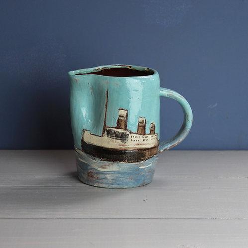 Ship and Lighthouse Jug