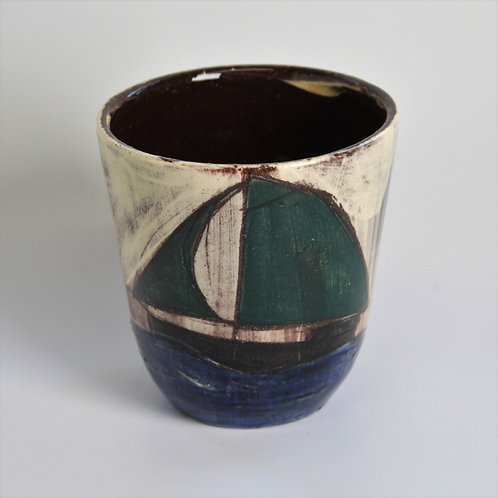 Green Sails and White Skies Drinking Vessel