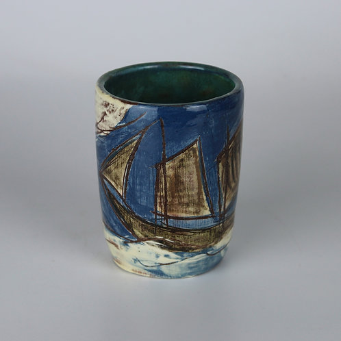 Sailing Ship and Rocks Rum Cup