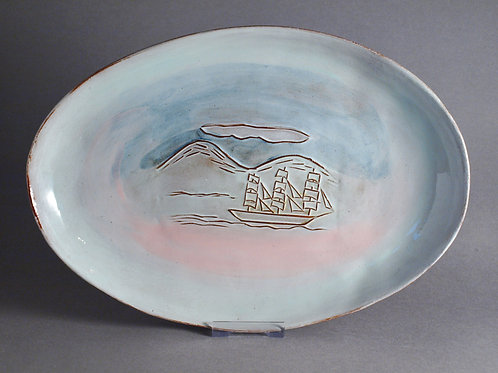 Ship in the Arctic Platter
