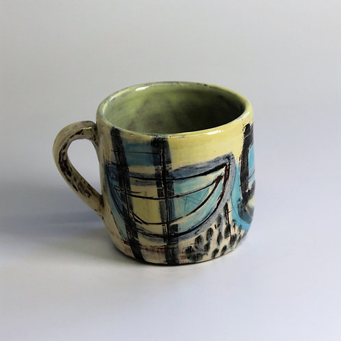 Abstract Boats Mug