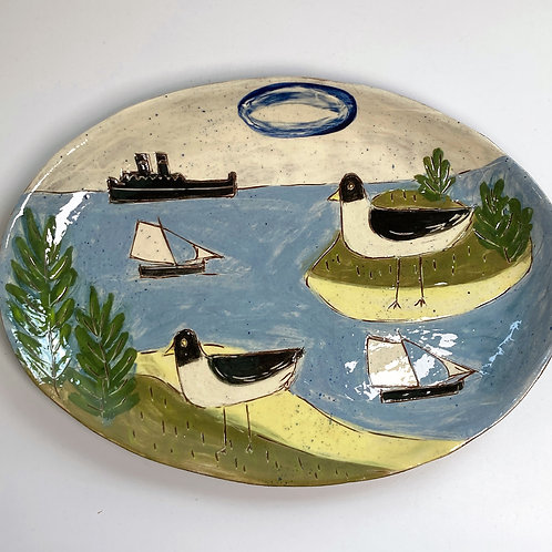 Sailing by Seagull Land Platter
