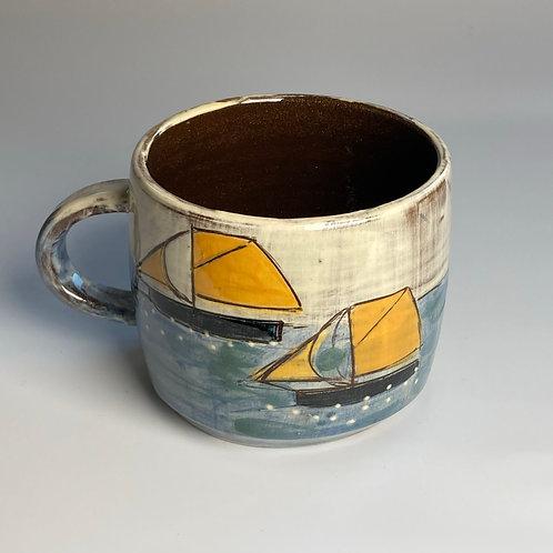 House and Orange Sails Mug