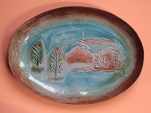 Ship and Trees Platter