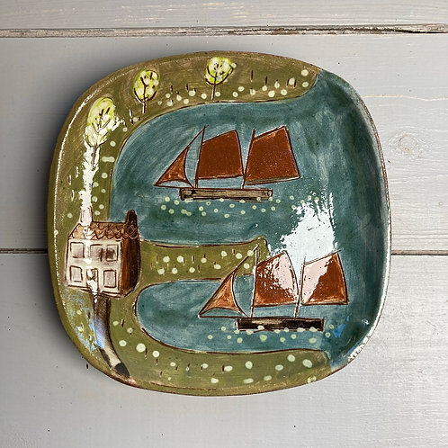 In the Bay Small Square Plate