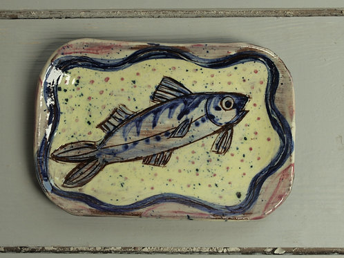 Mackerel postcard plate