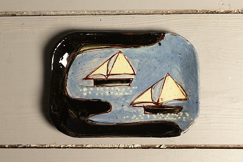 Sailing Into Harbour Postcard Plate