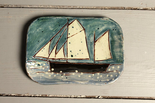 Two Sails Postcard Plate
