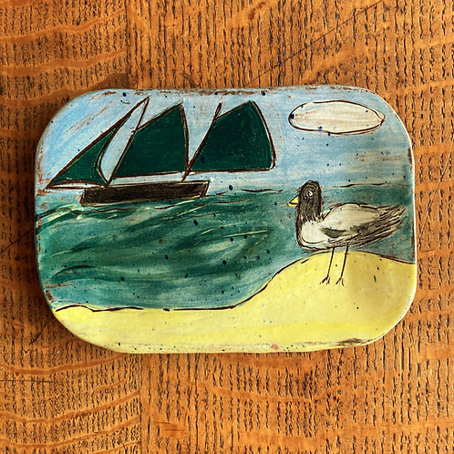 Seagull Land Postcard Plate