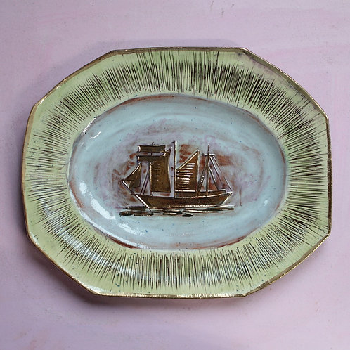 Golden Schooner Platter