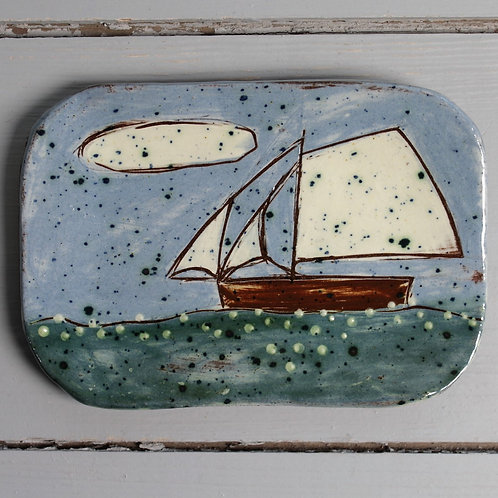 Calm Day postcard plate