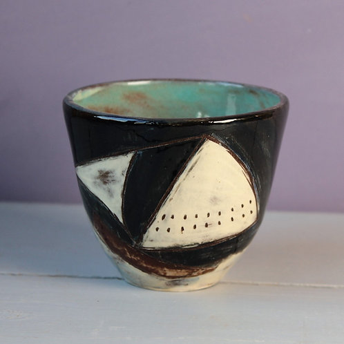 Ship and Moon Drinking Vessel