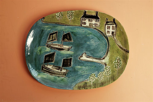 Waiting in the Harbour Platter