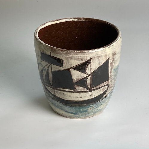 Sails and Lighthouse Drinking Vessel